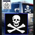 Jolly Rogers Edward England Crossbones Decal Sticker White Emblem 120x120