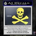 Jolly Rogers Edward England Crossbones Decal Sticker Yelllow Vinyl 120x120