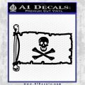 Jolly Rogers Edward England Pirate Flag INT Decal Sticker Black Logo Emblem 120x120