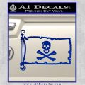 Jolly Rogers Edward England Pirate Flag INT Decal Sticker Blue Vinyl 120x120