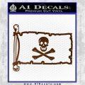 Jolly Rogers Edward England Pirate Flag INT Decal Sticker Brown Vinyl 120x120