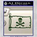 Jolly Rogers Edward England Pirate Flag INT Decal Sticker Dark Green Vinyl 120x120