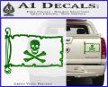 Jolly Rogers Edward England Pirate Flag INT Decal Sticker Green Vinyl 120x97