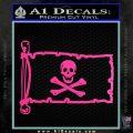 Jolly Rogers Edward England Pirate Flag INT Decal Sticker Hot Pink Vinyl 120x120