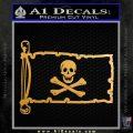 Jolly Rogers Edward England Pirate Flag INT Decal Sticker Metallic Gold Vinyl 120x120