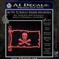 Jolly Rogers Edward England Pirate Flag INT Decal Sticker Pink Vinyl Emblem 120x120