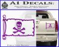 Jolly Rogers Edward England Pirate Flag INT Decal Sticker Purple Vinyl 120x97