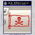 Jolly Rogers Edward England Pirate Flag INT Decal Sticker Red Vinyl 120x120