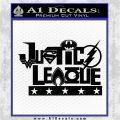 Justice League Text Logo Vinyl Decal Sticker Black Logo Emblem 120x120