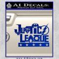 Justice League Text Logo Vinyl Decal Sticker Blue Vinyl 120x120