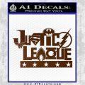 Justice League Text Logo Vinyl Decal Sticker Brown Vinyl 120x120