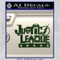 Justice League Text Logo Vinyl Decal Sticker Dark Green Vinyl 120x120