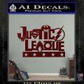 Justice League Text Logo Vinyl Decal Sticker Dark Red Vinyl 120x120