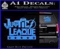 Justice League Text Logo Vinyl Decal Sticker Light Blue Vinyl 120x97