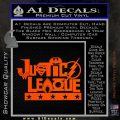 Justice League Text Logo Vinyl Decal Sticker Orange Vinyl Emblem 120x120