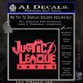 Justice League Text Logo Vinyl Decal Sticker Pink Vinyl Emblem 120x120