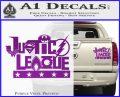 Justice League Text Logo Vinyl Decal Sticker Purple Vinyl 120x97