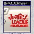 Justice League Text Logo Vinyl Decal Sticker Red Vinyl 120x120