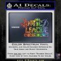 Justice League Text Logo Vinyl Decal Sticker Sparkle Glitter Vinyl 120x120