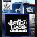 Justice League Text Logo Vinyl Decal Sticker White Emblem 120x120