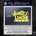 Justice League Text Logo Vinyl Decal Sticker Yelllow Vinyl 120x120