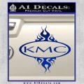 KMC Wheels Flame Decal Sticker Blue Vinyl 120x120