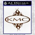 KMC Wheels Flame Decal Sticker Brown Vinyl 120x120