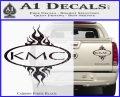 KMC Wheels Flame Decal Sticker Carbon Fiber Black 120x97