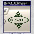 KMC Wheels Flame Decal Sticker Dark Green Vinyl 120x120