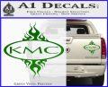 KMC Wheels Flame Decal Sticker Green Vinyl 120x97