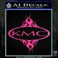 KMC Wheels Flame Decal Sticker Hot Pink Vinyl 120x120