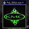 KMC Wheels Flame Decal Sticker Lime Green Vinyl 120x120