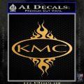 KMC Wheels Flame Decal Sticker Metallic Gold Vinyl 120x120