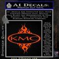 KMC Wheels Flame Decal Sticker Orange Vinyl Emblem 120x120