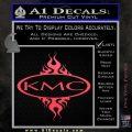 KMC Wheels Flame Decal Sticker Pink Vinyl Emblem 120x120