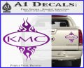 KMC Wheels Flame Decal Sticker Purple Vinyl 120x97