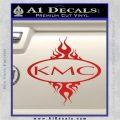 KMC Wheels Flame Decal Sticker Red Vinyl 120x120