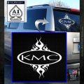 KMC Wheels Flame Decal Sticker White Emblem 120x120