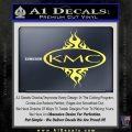 KMC Wheels Flame Decal Sticker Yelllow Vinyl 120x120