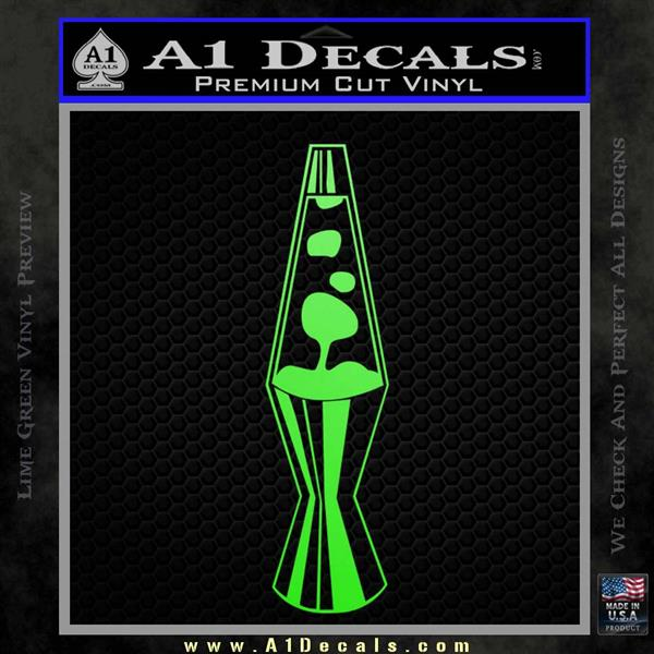 Lava Lamp Decal Sticker Lime Green Vinyl