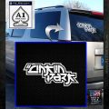 Lincoln Park Decal Sticker Stacked White Emblem 120x120
