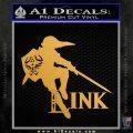 Link TXT Legend of Zelda Decal Sticker DZA Metallic Gold Vinyl 120x120