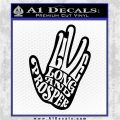 Live Long and Prosper Decal Sticker HTX Black Logo Emblem 120x120