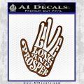Live Long and Prosper Decal Sticker HTX Brown Vinyl 120x120