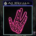 Live Long and Prosper Decal Sticker HTX Hot Pink Vinyl 120x120