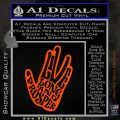 Live Long and Prosper Decal Sticker HTX Orange Vinyl Emblem 120x120