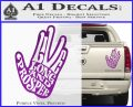 Live Long and Prosper Decal Sticker HTX Purple Vinyl 120x97