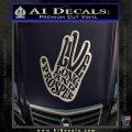Live Long and Prosper Decal Sticker HTX Silver Vinyl 120x120