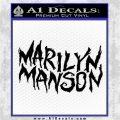 Marilyn Manson Rock Band TXT Decal Sticker Black Logo Emblem 120x120