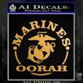 Marines oorah Decal Sticker Metallic Gold Vinyl 120x120